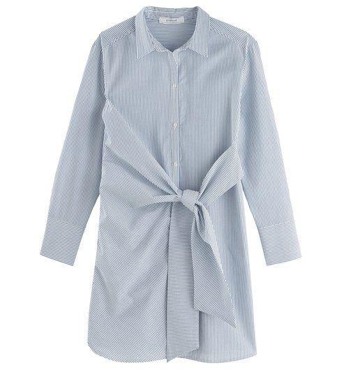 Robe chemise nouee