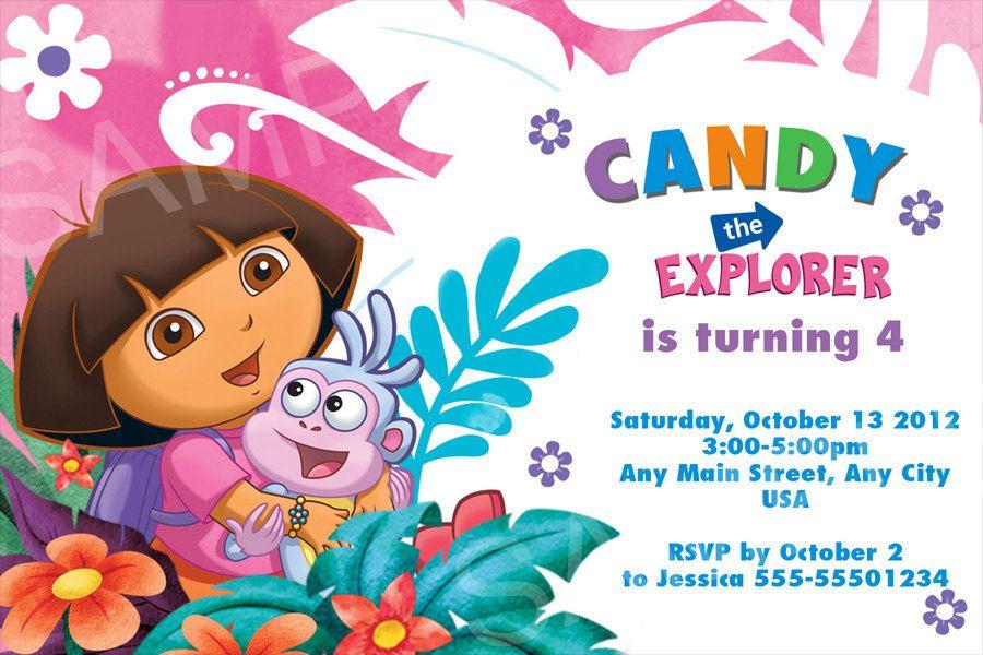 Dora The Explorer Invitation Template Google Search Dora Party