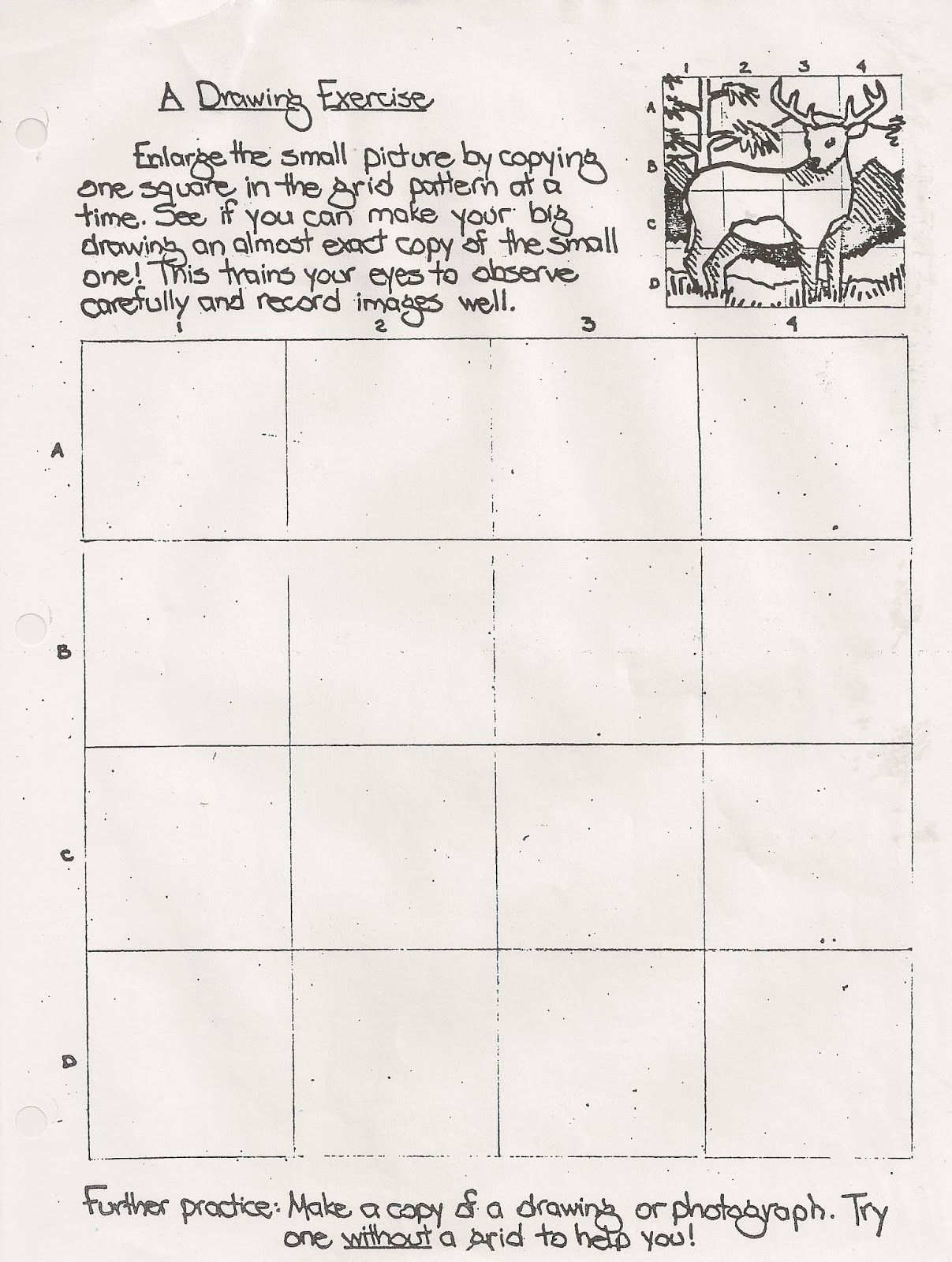 No Corner Suns: Drawing Exercise Worksheet/handout. Useful grid ...