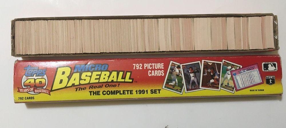 1991 topps micro baseball complete set 40th anniversary