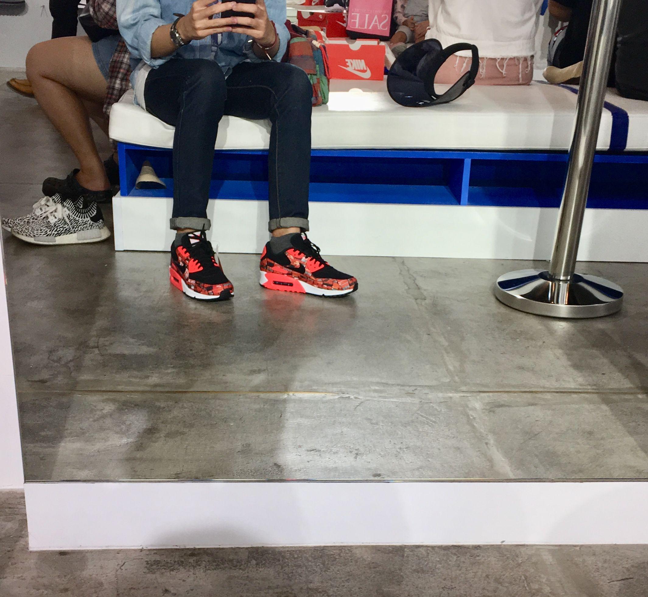 the latest edac7 3c6dd Nike air max90 atmos - nike box print red