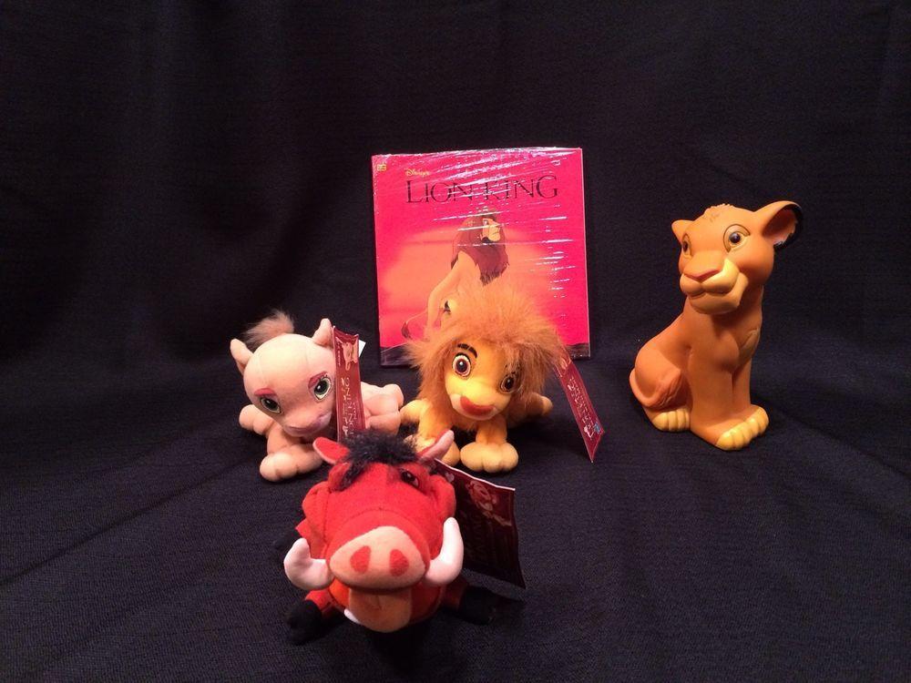 Dinosaurs Mdf Toy Box Childrens Storage Toys Games Books: The Lion King Plush, Bank Books Lot Of 5 Hasbro Disney