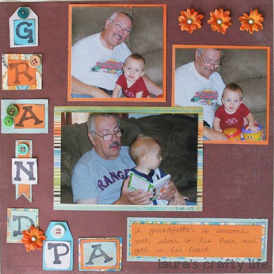 Scrapbook Layout: Grandpa This scrapbook layout hi