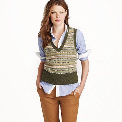J.Crew Dream Fair Isle Vest | Dream Wardrobe | Pinterest | Vests ...