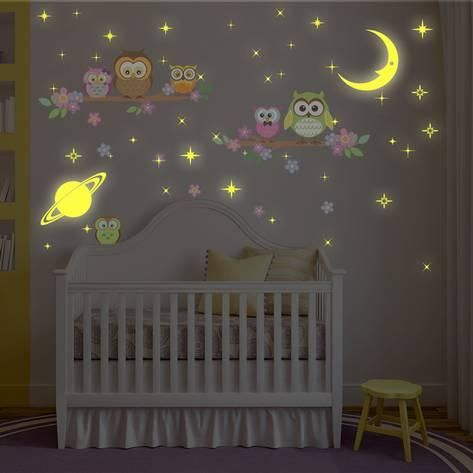 owl tree with glow in the dark moon and stars | products | pinterest