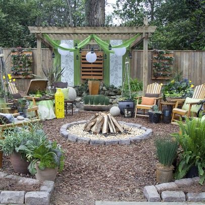 how to create a dream garden on a low budget fire pit ideas bungalow landscaping backyard. Black Bedroom Furniture Sets. Home Design Ideas