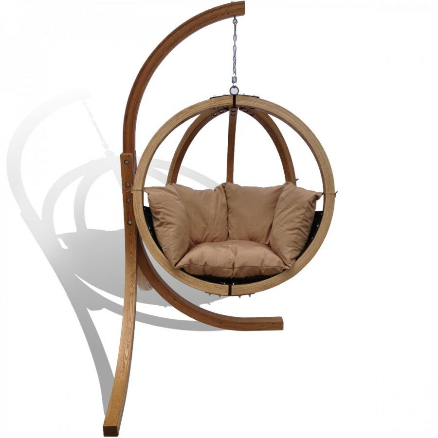 Outdoor wooden hanging chair e28093 havana time to click 4 for Circle swing chair