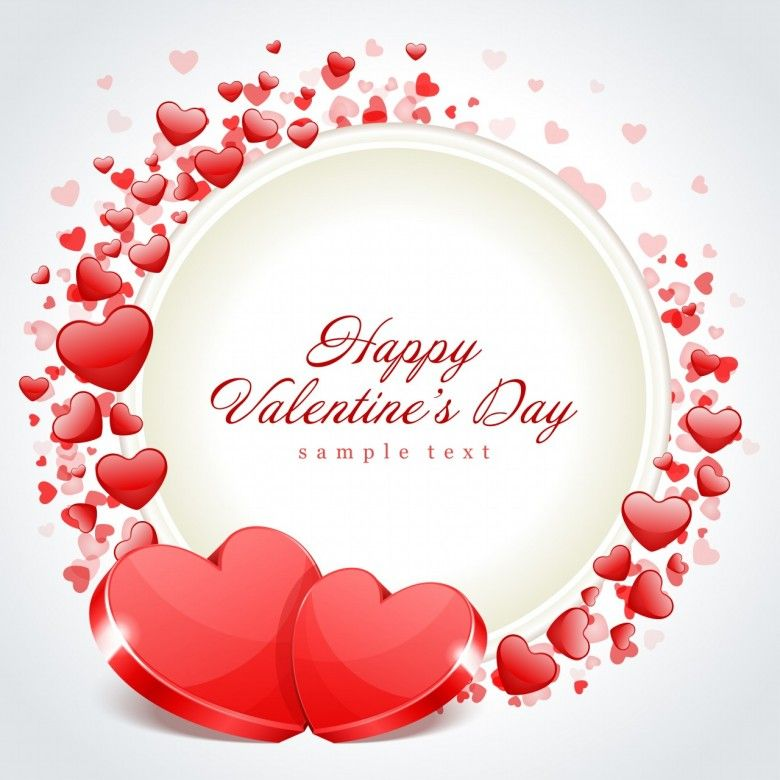 Valentines Day Frame Two Hearts 780x780 Wallpapers Cards Happy