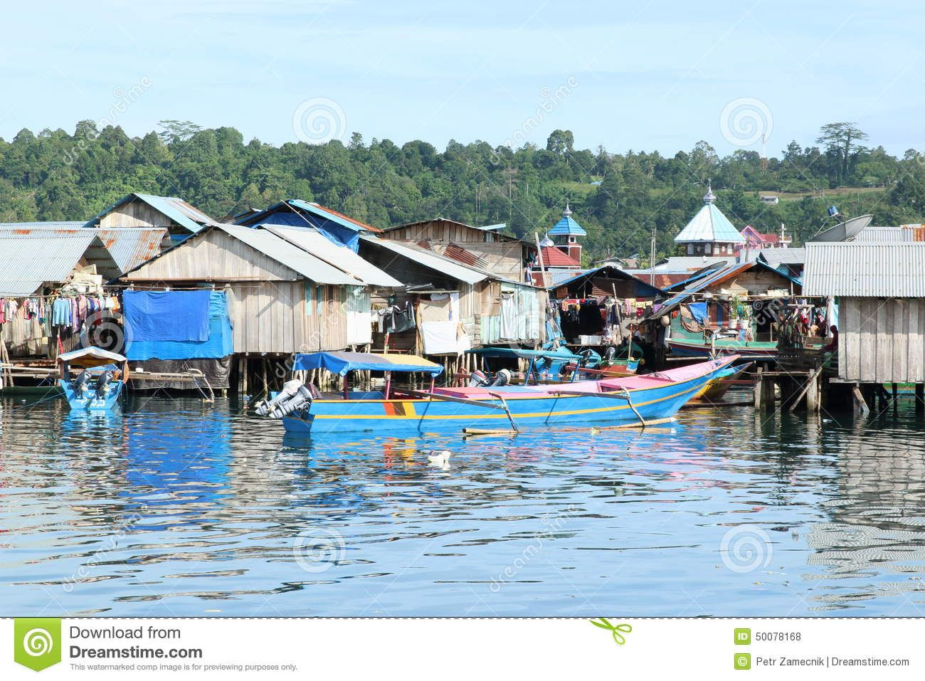 Poor Fishermen Houses By The Sea House By The Sea West Papua Photo
