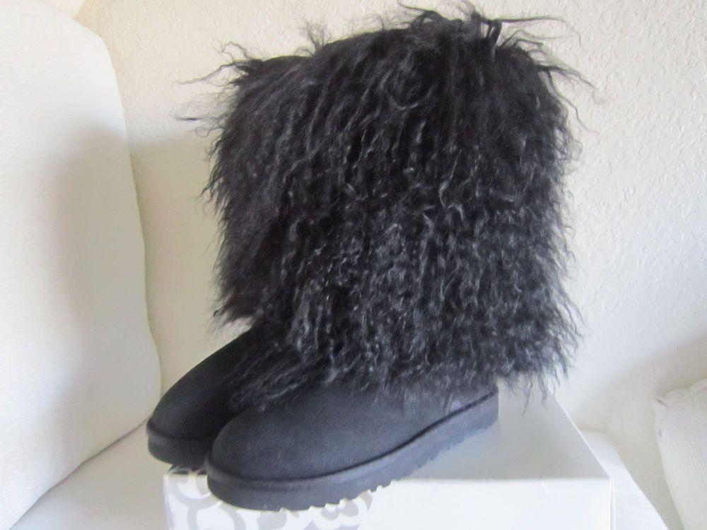 9f2abd2c721 Details about Ugg Australia Sheepskin Mongolian Tall Cuff Boots ...