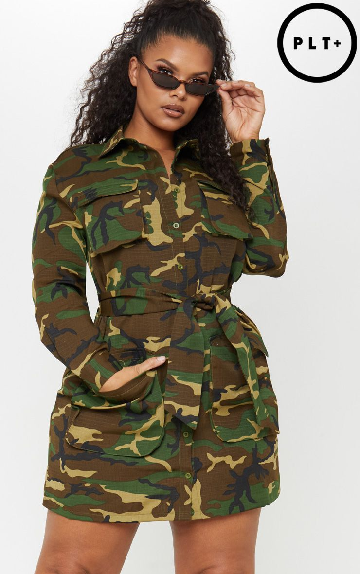 New Look Girls Camo Bob Bardot Cargo Dress