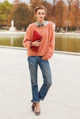 casual chic in boyfriend jeans