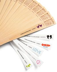 Personalized Hand Fan Labels To Put On Favors