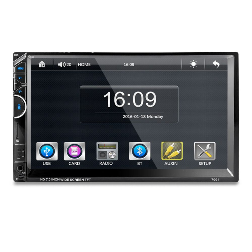 7 Inch Bluetooth Car Radio Video Mp5 Player Autoradio Fm Aux Usb Sd Wiring Diagram Hilux Stereo Further Nissan Navara 7001 Hd 1080p Touch Screen With Am Rds Music Movie