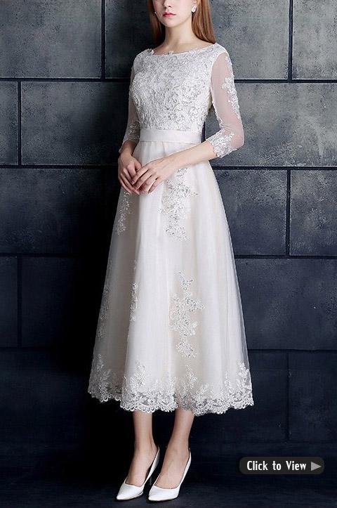 Wedding Dresses for Older Brides over 40, 50, 60, 70 Tea