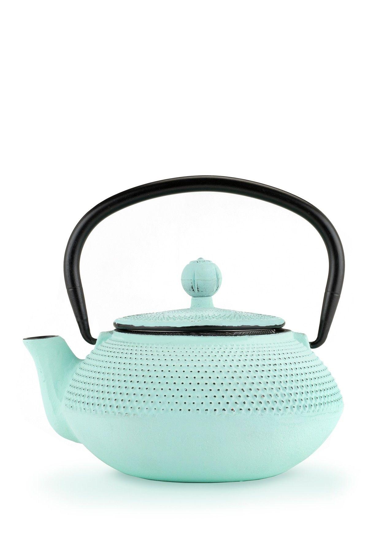 True Brands Light Blue Miko Cast Iron Teapot Cast Iron Tea Pot House Styles Tea Pots