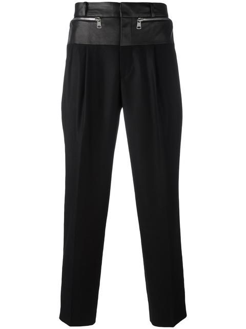 JUUN.J mixed material trousers. #juun.j #cloth #팬츠