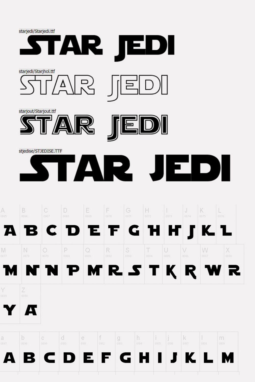 Star wars font, Lettering alphabet ...