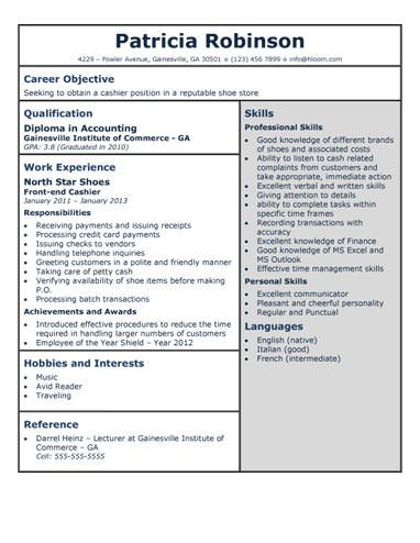 Shoe Store Cashier Resume Template | No Days Off | Pinterest ...