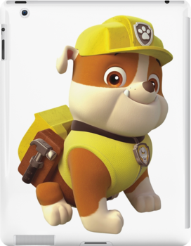 Paw Patrol Rubble Ipad Retina 3 2 Snap Case By Docubazar7 Rubble Paw Patrol Paw Patrol Birthday Paw Patrol Characters