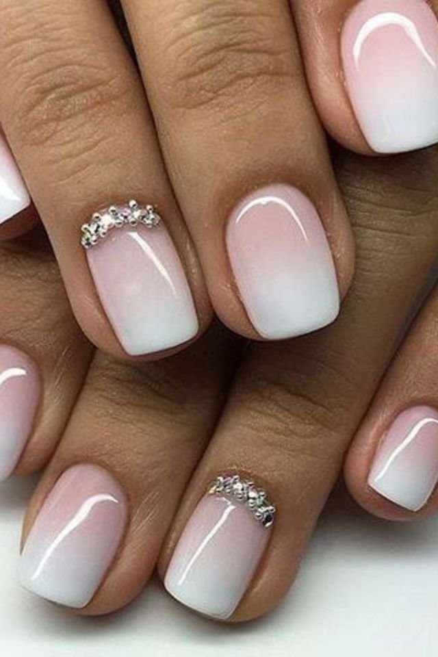 Lovely And Fresh Short Nail Manicure Design Ombre Nail Designs Trendy Nails Ombre Nails
