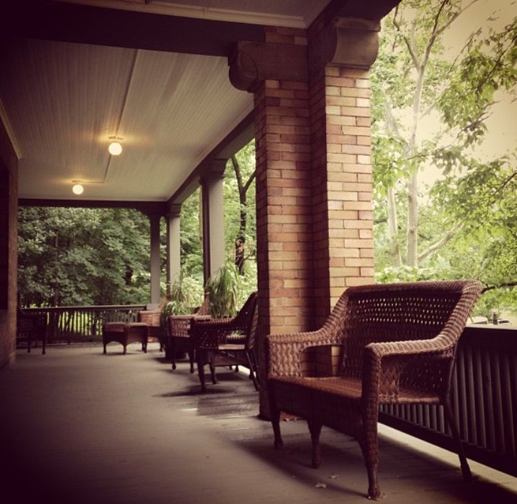 Beatty houses front porch on a cool summer day chathamu kickback relax