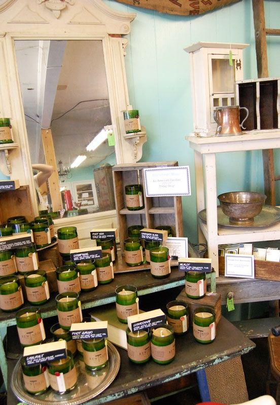 Good Use Of Props To Display Handmade Candles At A Craft Fair Candle Store Display Candle Displays Rewined Candles