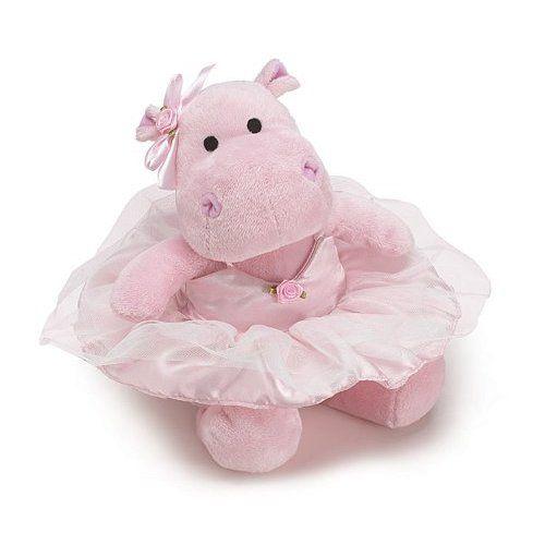 Plush Hippo With TuTu Adorable Ballet Stuffed Animal Toys
