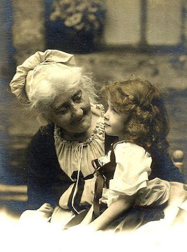 Vintage girl with granny