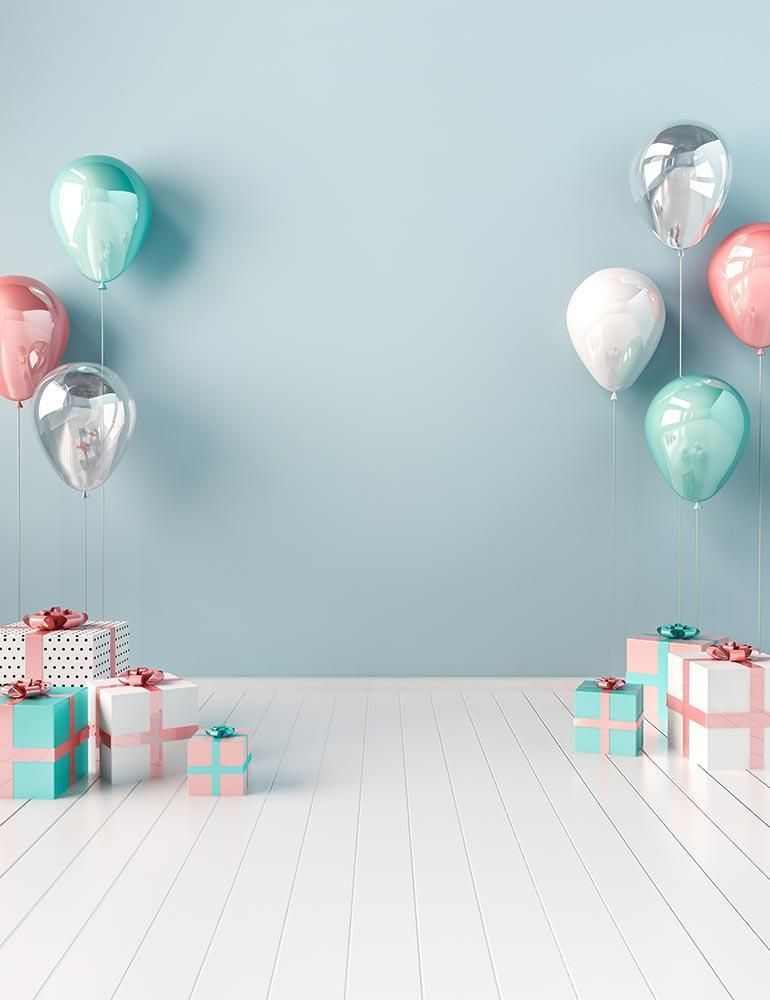Birthday Gift On White Wood Floor For Baby Birthday Photography Backdrop Baby Birthday Photography Birthday Photography Baby Photography Backdrop Baby birthday background images hd
