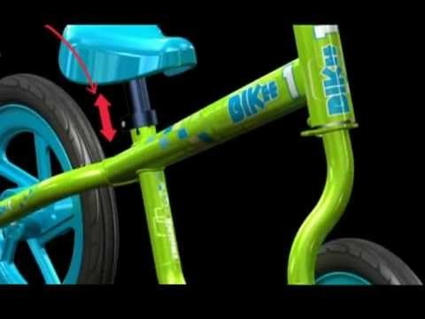 Kids can learn how to ride a bike with a Bikee Balance Bike versus the traditional kids bike with training wheels.