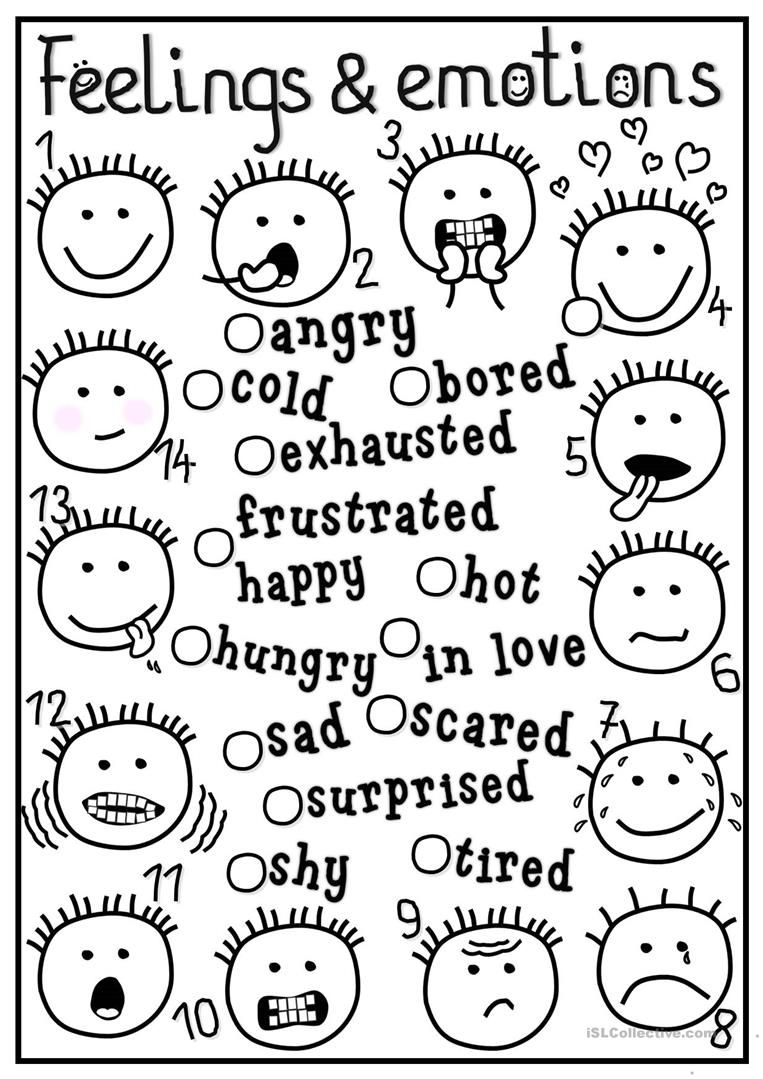 feelings and emotions matching worksheet free esl printable worksheets made by teachers. Black Bedroom Furniture Sets. Home Design Ideas