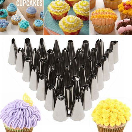 Free Shipping Buy Meigar 35pcs Russian Icing For Cake Decorating Supplies Piping Tips In Home Di Piping Icing Cake Decorating Supplies Cupcake Decorating Tips