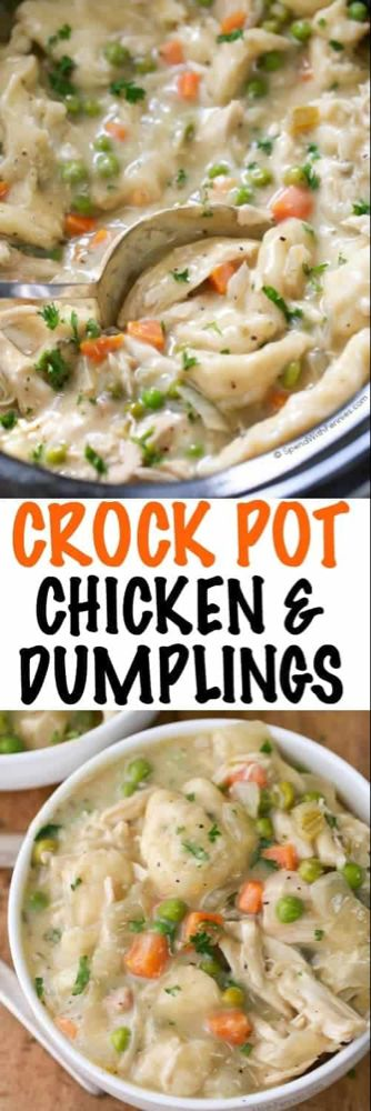 Crock Pot Chicken and Dumplings - Spend With Pennies
