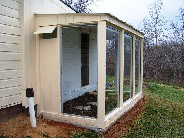 Used Patio Doors Complete The Greenhouse