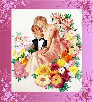 Imágenes vintage gratis / Free vintage images: Ilustración retro. Pareja