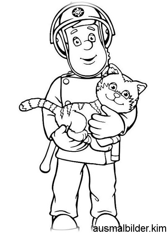 Fireman Sam Coloring Book Pages Coloring Books