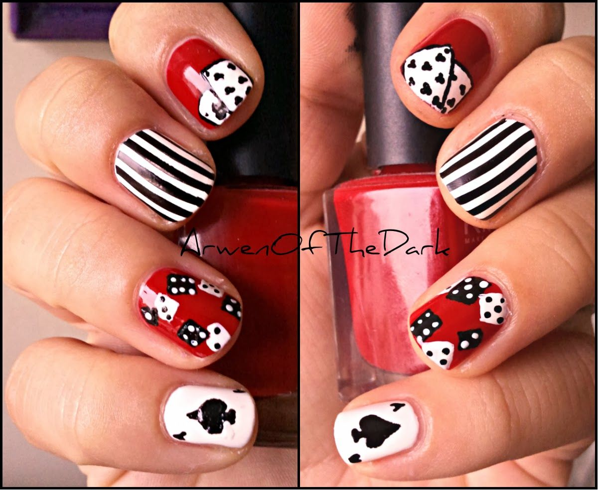 Poker Las Vegas Nail Art Nail Fun Pinterest Nails Vegas Nails