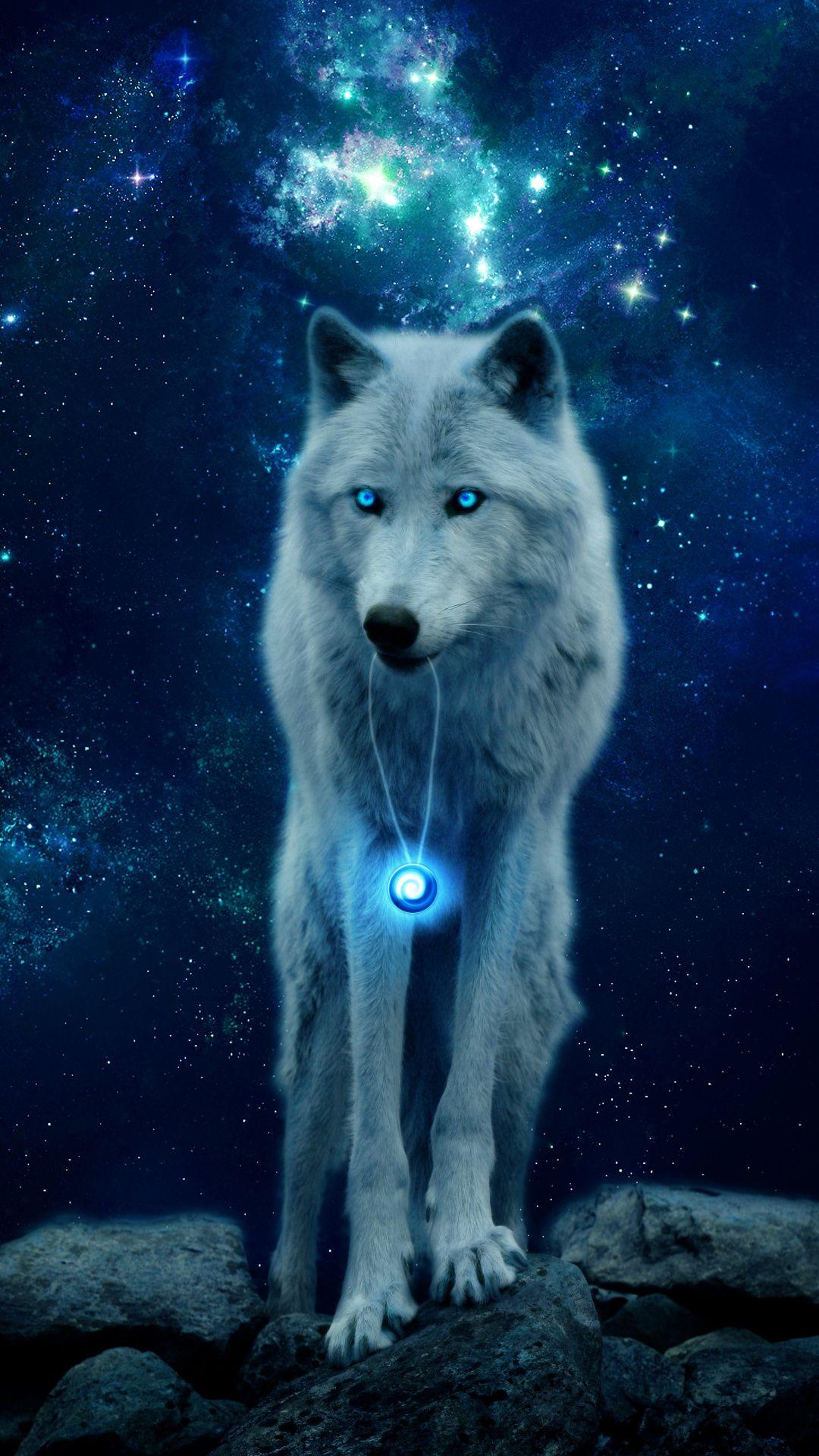 Wallpapers Digital Art Art Arctic Wolf Canis Lupus Tundrarum Dog Like Mammal Wolf Spirit Animal Wolf Spirit Wolf Art Fantasy