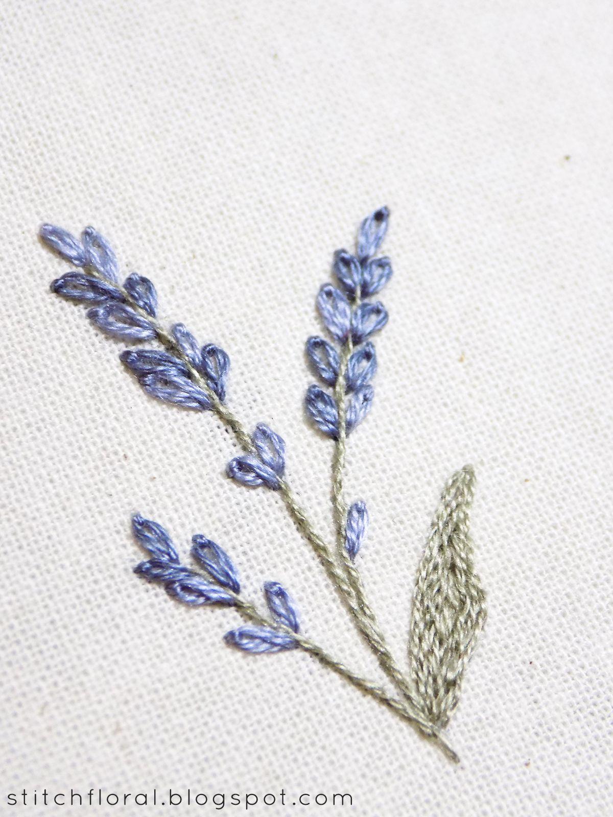 Lavender Embroidered Miniature Miniature Embroidery Sewing Embroidery Designs Embroidery Flowers Pattern