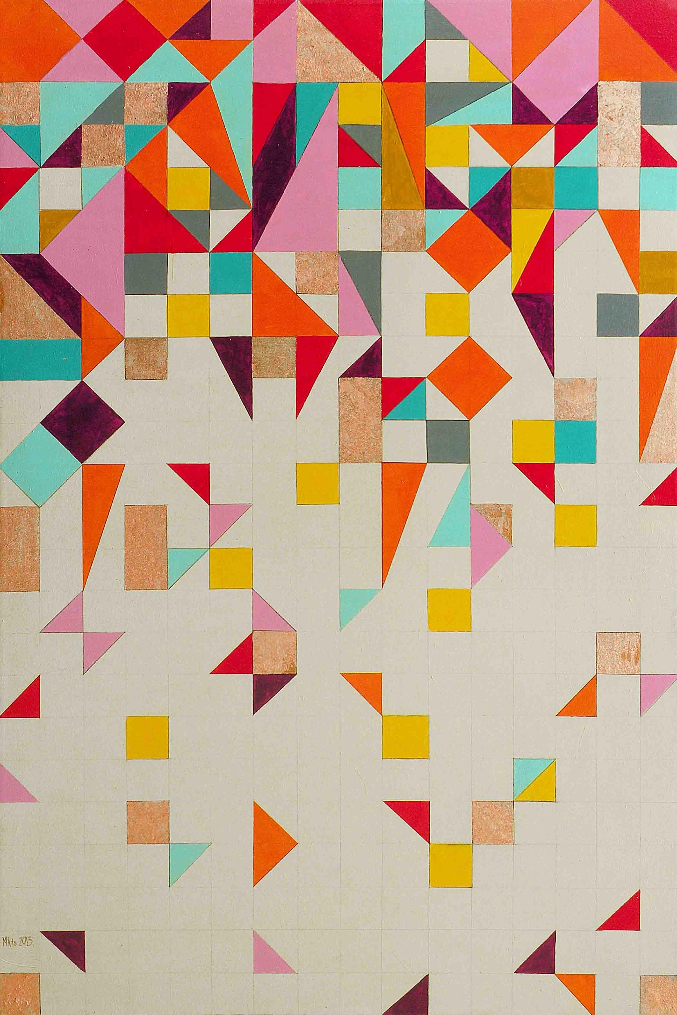 Illustration Abstraite : Géométrique, Couleurs Vives