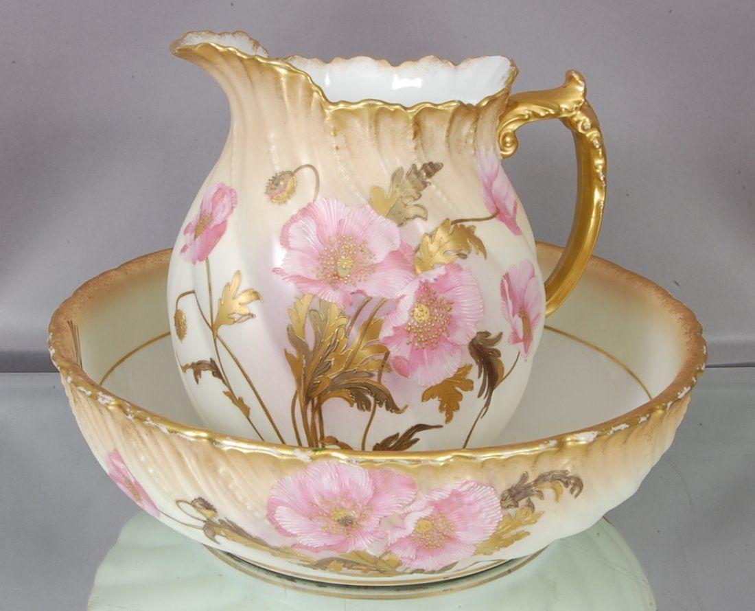 34 limoges bowl pitcher set on antique pitchers bowls pinterest geschirr. Black Bedroom Furniture Sets. Home Design Ideas