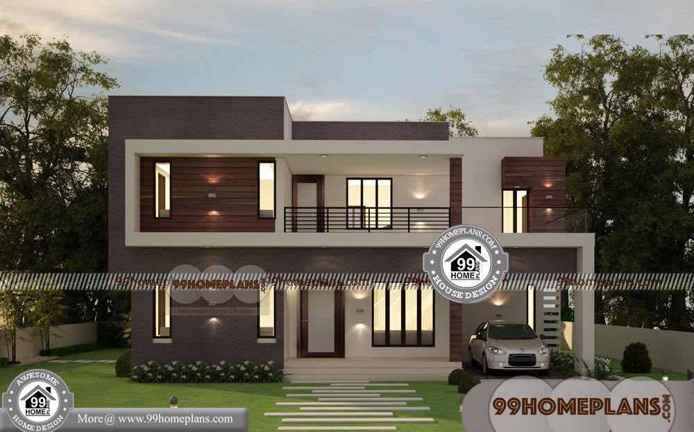 Affordable Dream Homes With Luxury Double Storey Homes Having 2 Floor 4 Total Bedroom 4 Total Bathroo Storey Homes Cheap House Plans Contemporary House Plans