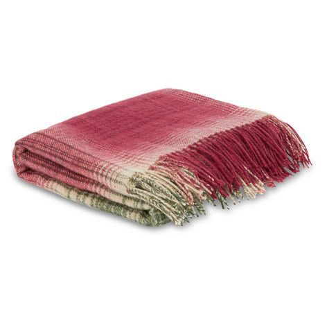 Stirling Check Cranberry Throw Childrens Room Decor