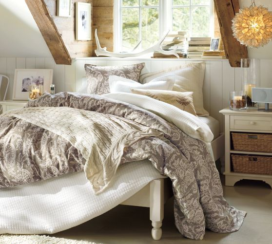 Addison Platform Bed Frame King Almond White