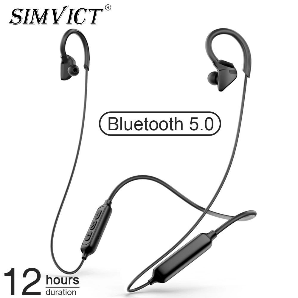 Simvict Neckband Bluetooth Earphone Wireless Headphones Gaming Headset Sport Earbuds With Mic For Iphone Samsung Ear Buds Phones Boughtagain In 2020 Wireless Earphones Sport Earbuds Earbuds With Mic