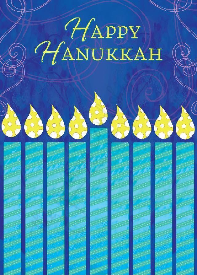 A happy hanukkah greeting card for anyone featuring a teal menorah a happy hanukkah greeting card for anyone featuring a teal menorah as you celebrate m4hsunfo