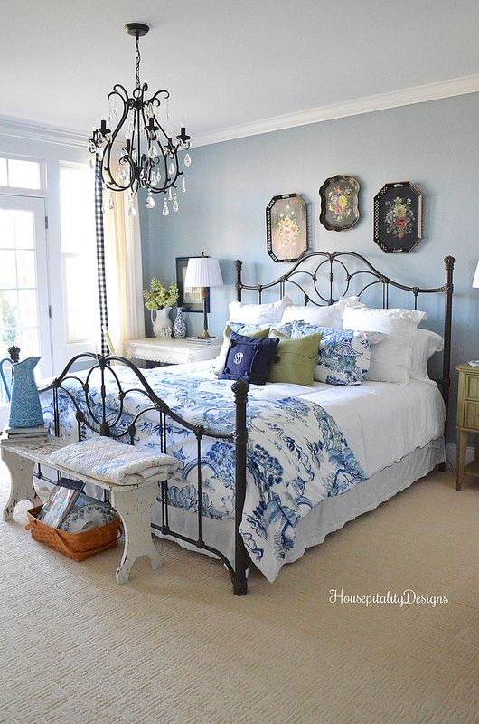 Changes In The Guest Room And It S Ready For Guests Country Bedroom Woman Bedroom Blue Bedroom Walls Some changes to guest room