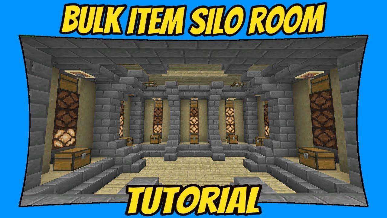 Bulk Item Storage Silo Room Tutorial Minecraft Bedrock Edition Mcpe Room Minecraft Silos Minecraft