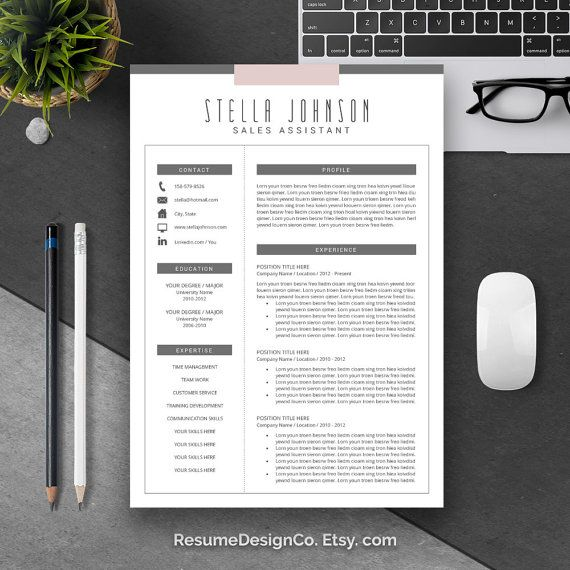 Resume Template And Cover Letter Template | Professional Creative Modern  Resume Template | WORD CV Template